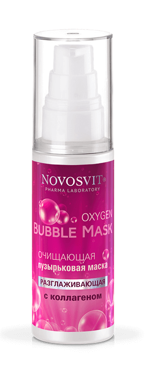 "Cleansing bubble mask with collagen ""smoothing"" NOVOSVIT"