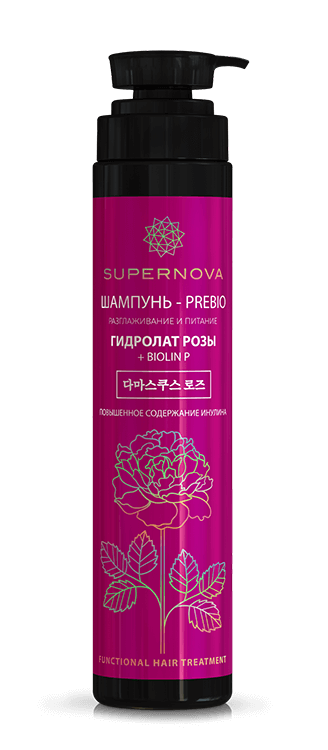 "Prebio shampoo ""Smoothing and nutrition"" Rose hydrolat + Biolin P"