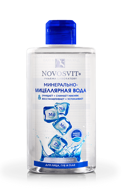 Mineral-micellar water for the face, lips and eyes NOVOSVIT