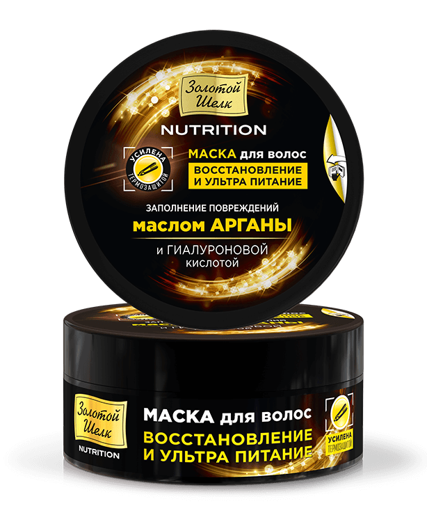Hair mask restoration and ultra nutrition Zolotoy Shelk - narodkosmetika.com